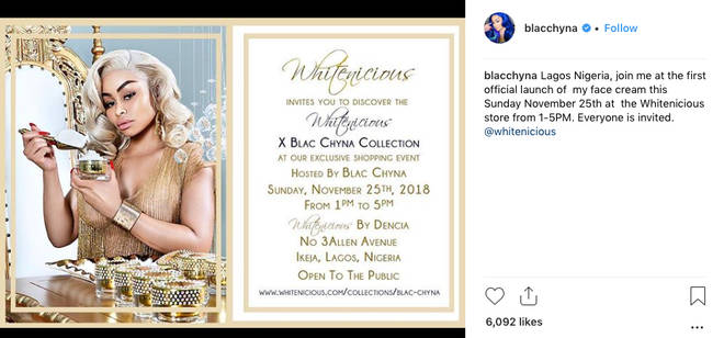 Blac Chyna Slammed for Promoting a Skin-Lightening Cream inAfrica