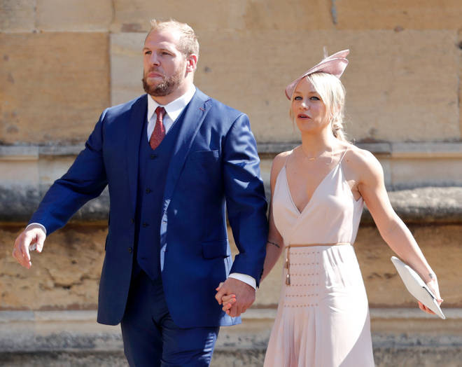James Haskell and Chloe Madeley attended Prince Harry & Meghan Markle's wedding