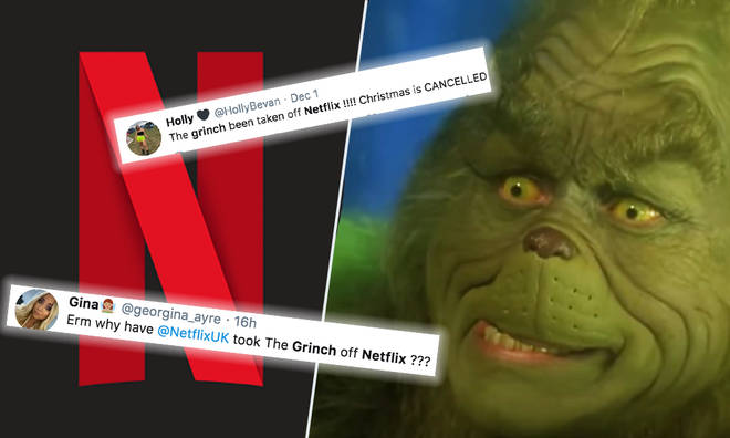 Netflix have removed 'The Grinch' from its site on December 1st