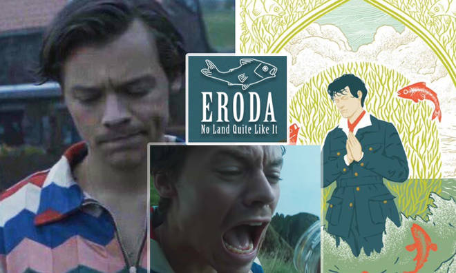 Harry Styles is behind the mysterious island of Eroda and stars in latest trailer