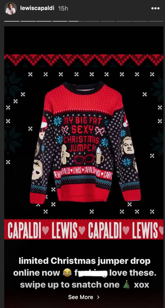 Lewis Capaldi's Christmas jumper is just as funny as you'd expect
