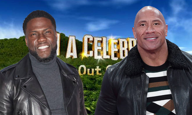 I'm A Celeb campmates will see 'The Rock' and Kevin Hart in the jungle on Thursday night
