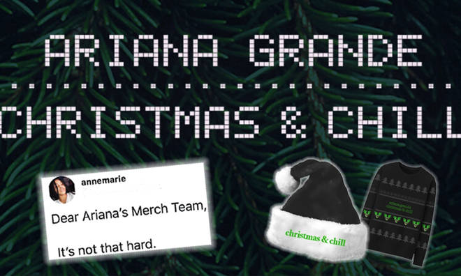 Ariana Grande fans aren't impressed with her Christmas merch