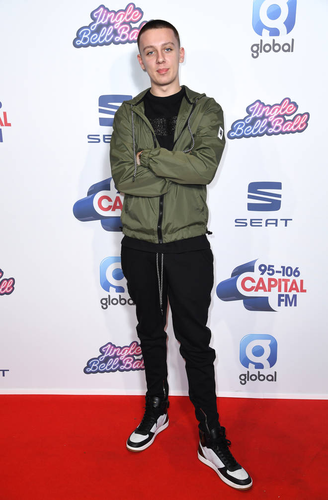 Aitch on the Red Carpet at the Jingle Bell Ball 2019