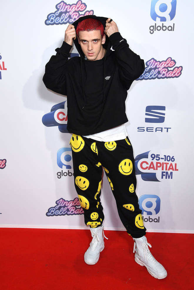 Lauv brought his A game, matching his hair with the red carpet