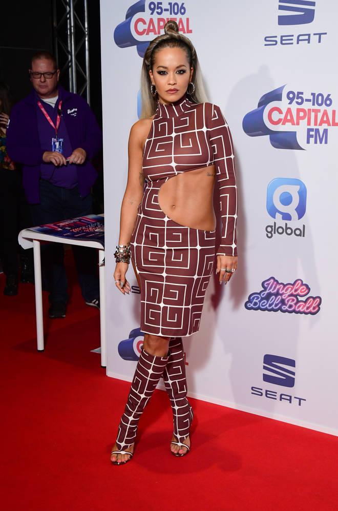 Rita Ora on the Jingle Bell Ball red carpet
