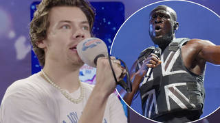 The singer joked backstage that he will fight Stormzy when he sees him