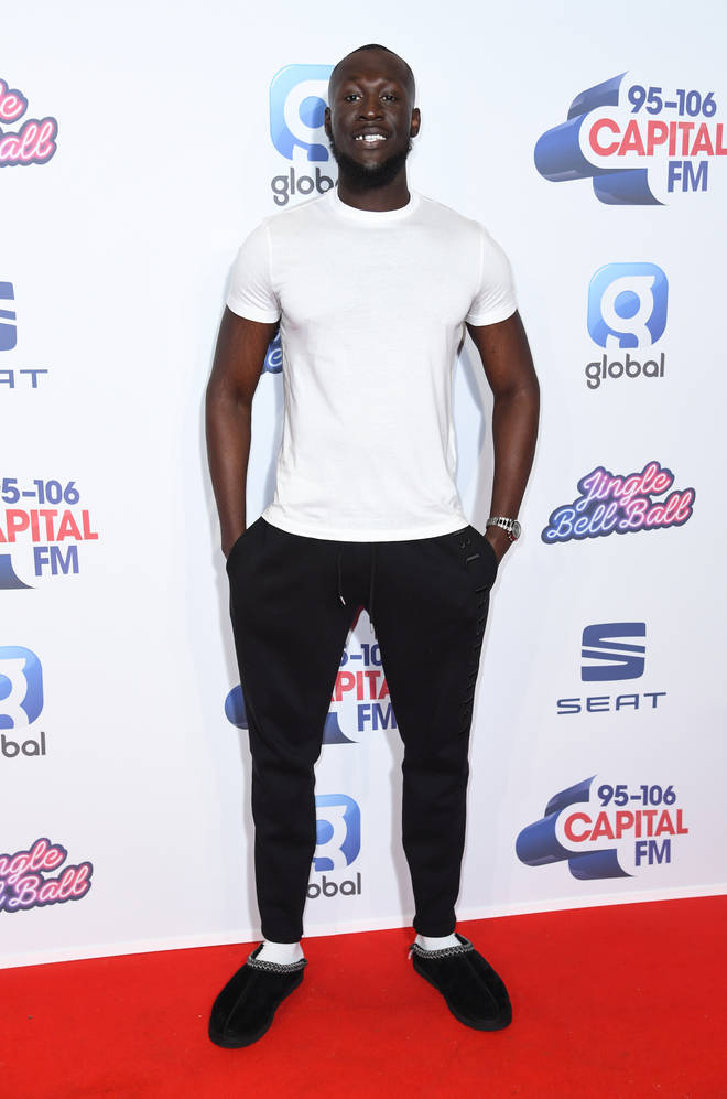 Stormzy stepped out onto the Jingle Bell Ball red carpet