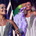 Rita Ora oozes glamour for her dreamy Jingle Bell Ball performance