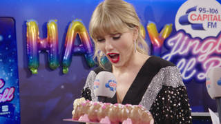 The singer was a big fan of her pink Connie the Caterpillar cake