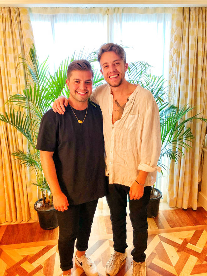 Roman Kemp reunited with Sonny Jay in Australia