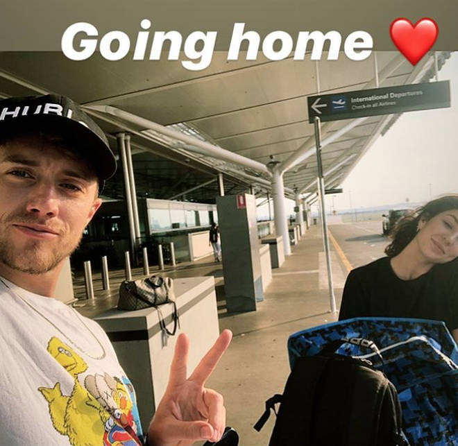 Roman Kemp is on his way home