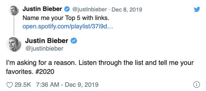 Justin Bieber confirmed new music is dropping
