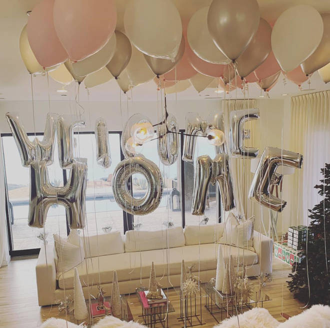 Kendall and Kylie decorated their dad's home for her arrival back from the jungle