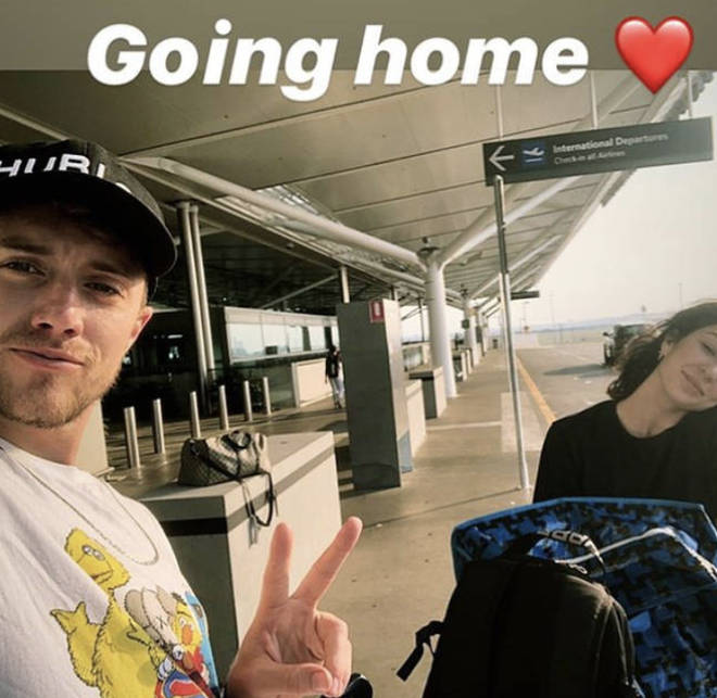 Roman Kemp flew back to London with his girlfriend