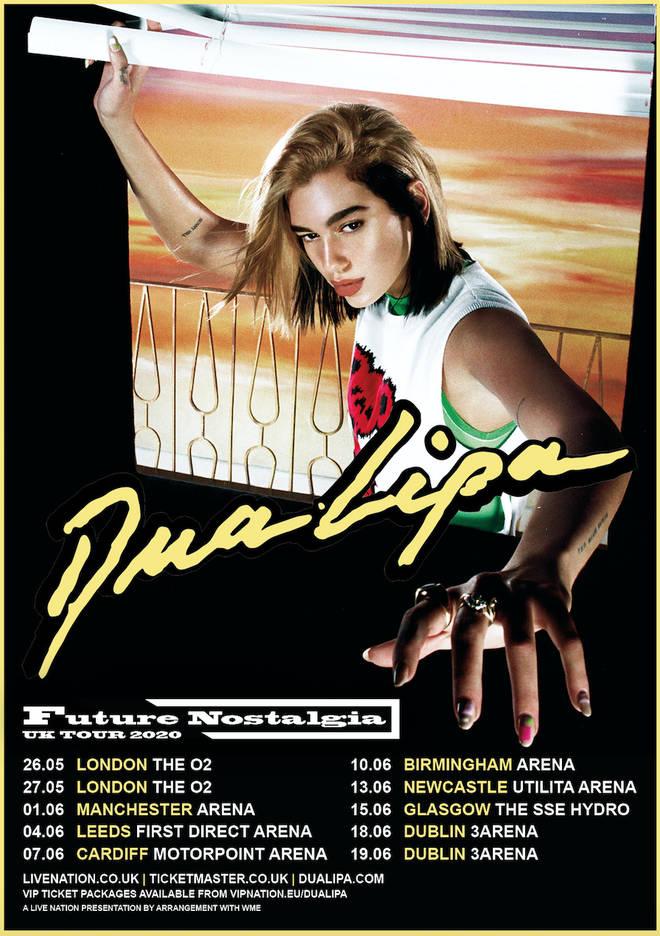 Dua Lipa is headed on tour for 'Future Nostalgia' in 2020