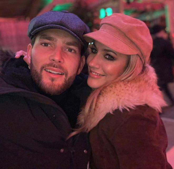 Caroline Flack and boyfriend Lewis Burton