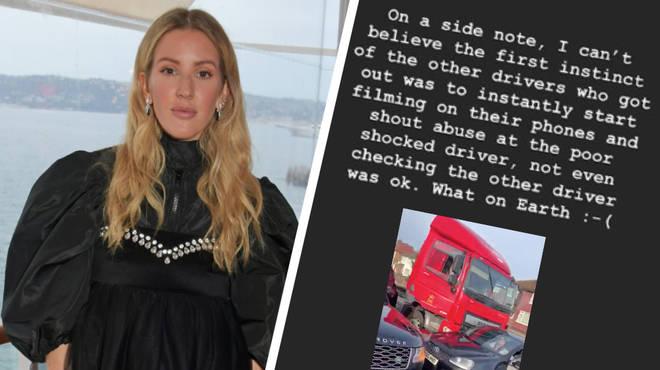 Ellie Goulding on motorway incident
