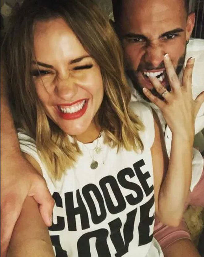Andrew Brady and Caroline Flack were engaged in 2018