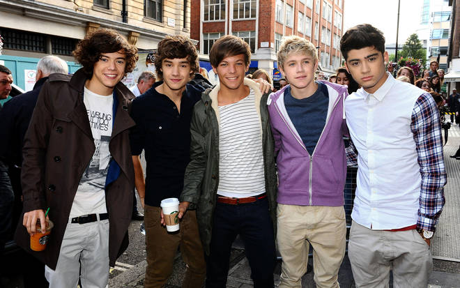 Harry Styles at the start of the decade with his One Direction bandmates