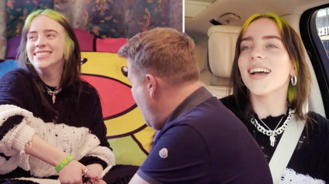 Billie Eilish with James Corden on Carpool Karaoke