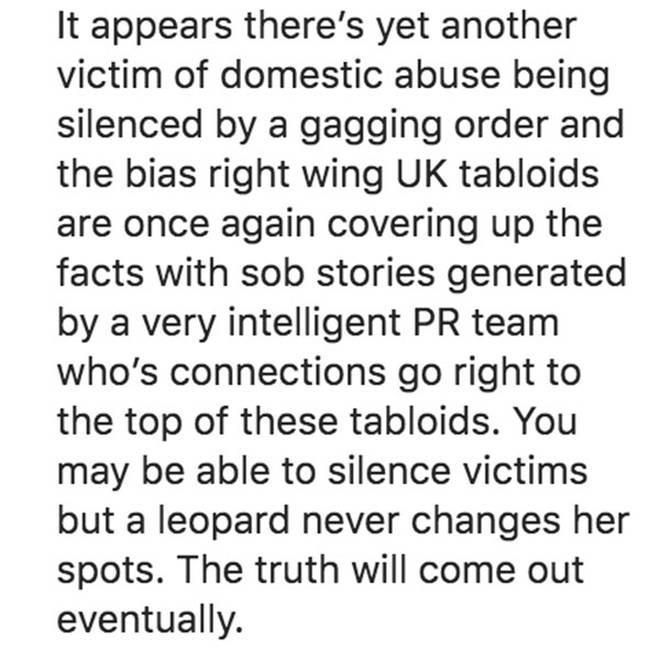 Andrew Brady reveals a 'leopard will never change her spots'