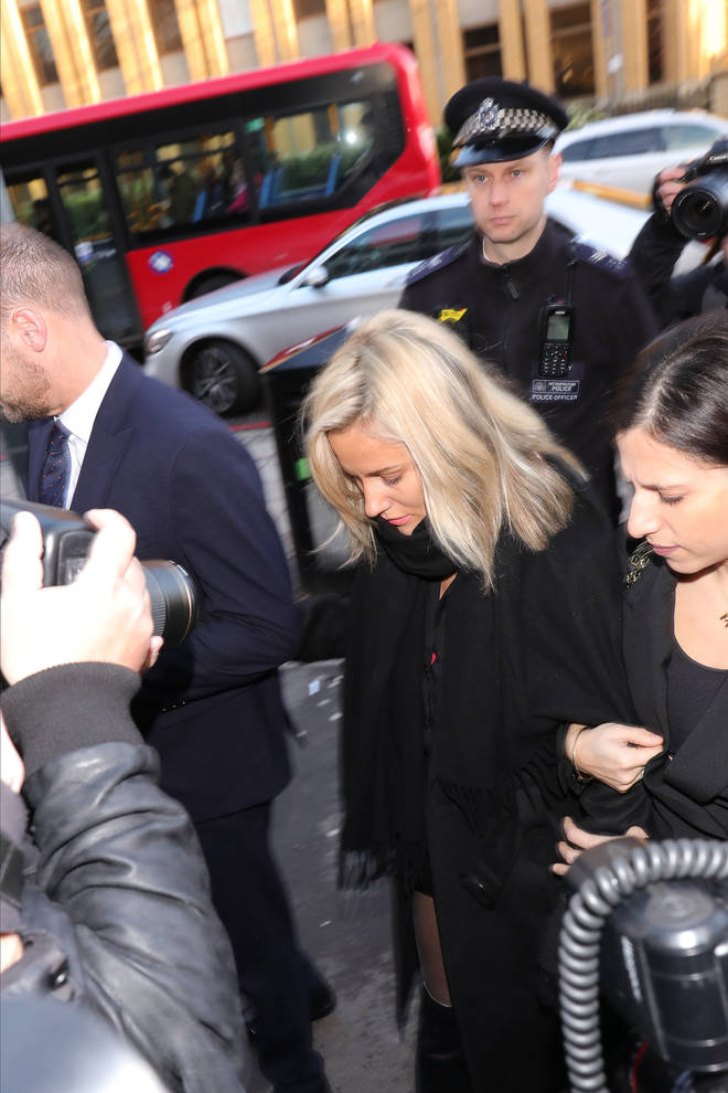 Caroline Flack at Highbury Corner Magistrates Court