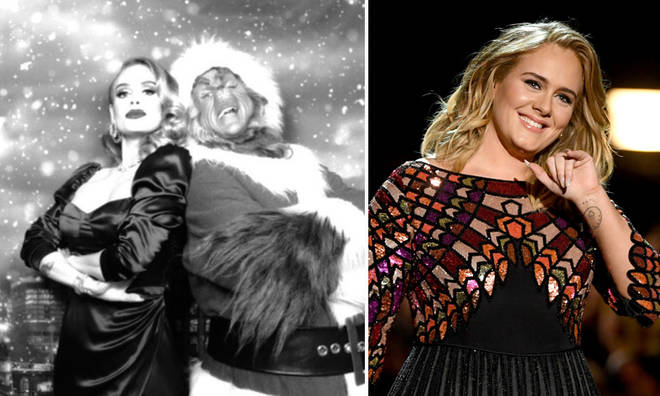 Adele threw an epic festive party complete with the Grinch