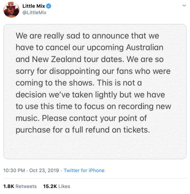 Little Mix confirmed they're working on new music
