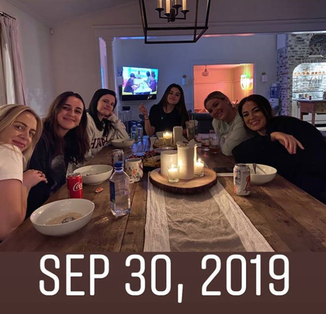 Selena Gomez had a casual dinner party with friends on 30 September