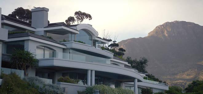 A shot from 'Black Mirror' shows the winter 'Love Island' villa