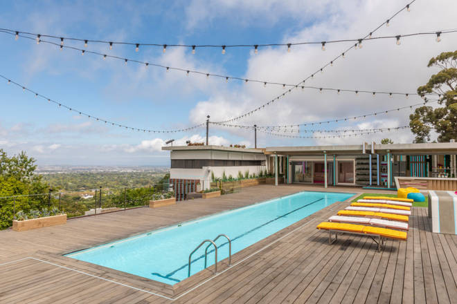 The swimming pool overlooks amazing South African views