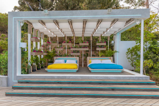 The villa has two huge day-beds