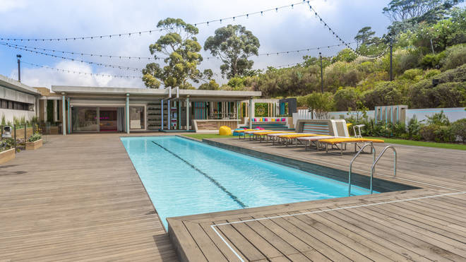 The Cape Town villa has an impressive pool and decking area