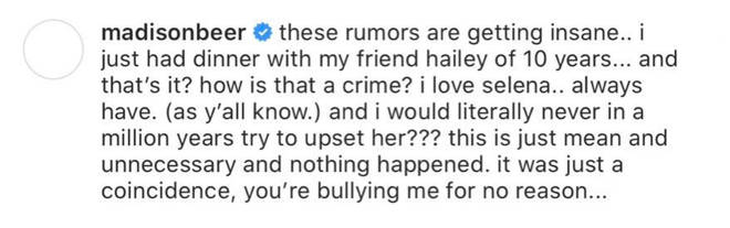 Madison Beer responded to claims she crashed Selena Gomez's 'Rare' party