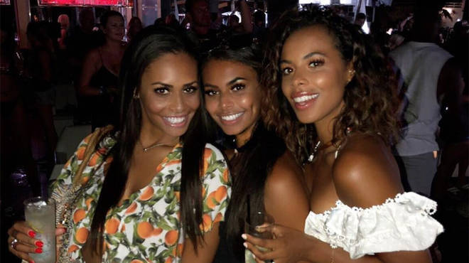 Rochelle Humes' curly hair is her only distinction from her siblings