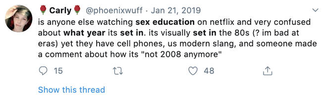 Fans are confused about what era Sex Education is set in