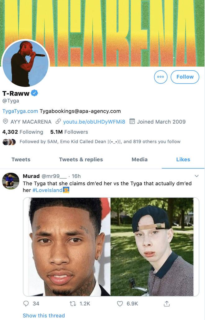Tyga denied he messaged Eve Gale