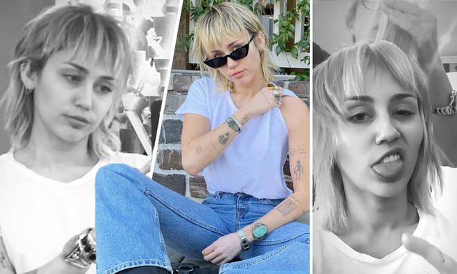 Miley Cyrus debuts new era mullet hairdo