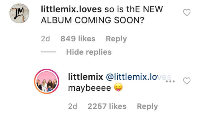 Little Mix pretty much confirmed new music is on the way