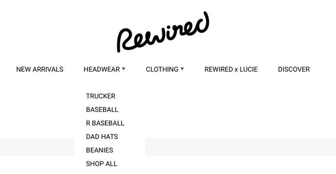 Rewired sell different types of hats