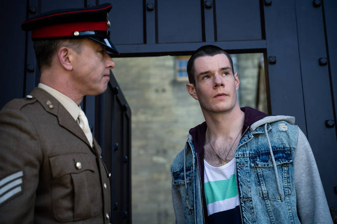 Connor Swindells' character Adam Groff was sent to military school in season one