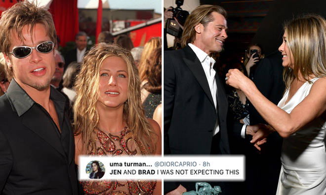 Brad Pitt and Jennifer Aniston's reunion is sparking hopes they'll date again