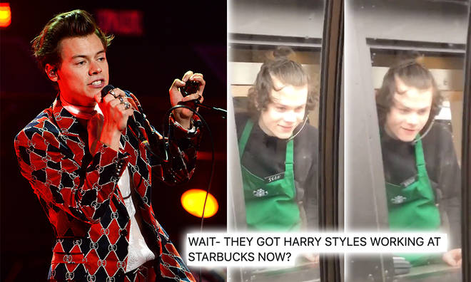 Fans joked 'they got Harry Styles working at Starbucks'