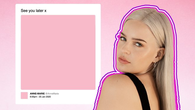 Anne-Marie has teased a new era with pink imagery