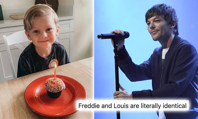 Freddie and Louis look identical