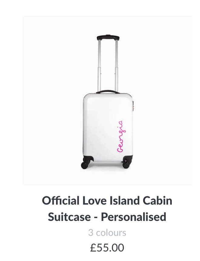Get the Love Island personalised suitcase!
