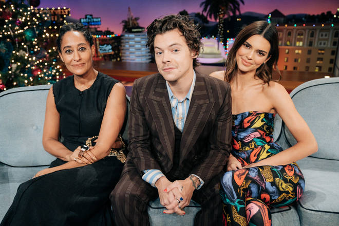 Kendall Jenner joined Harry Styles on The Late Late Show
