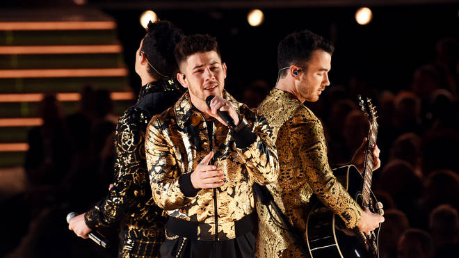The Jonas Brothers perform at the GRAMMYs
