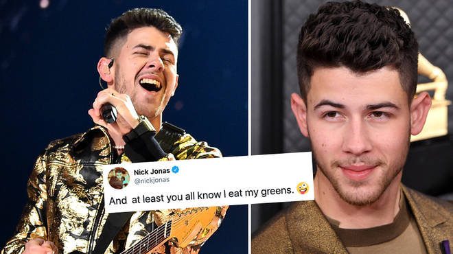 Nick Jonas had food in his teeth at this year's GRAMMYs